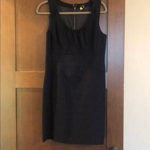 J. Crew Sleeveless navy cotton dress with lining
